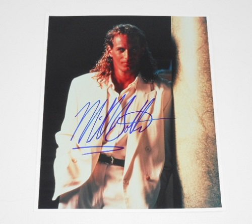 Michael Bolton When a Man Loves a Woman Signed Autographed 8x10 Glossy Photo Loa