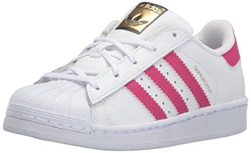 adidas Originals Girls' Superstar Foundation EL C Sneaker, White/Pink/Buzz White, 13 M US Little Kid by adidas Originals