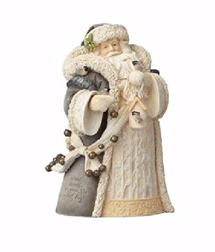 Foundations Woodland Santa with Bird Stone Resin Figurine, 7.7
