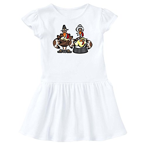 inktastic Mr. and Mrs. Tom Turkey Infant Dress 24 Months White (236 Tom)