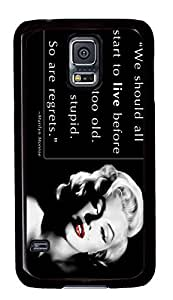 customized and diy marilyn monroe quotes for samsung galaxy s5 for office by customhappyshop