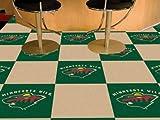 NHL Team Carpet Tiles Size: Square 1'6'' x 1'6'', Team: Minnesota Wild