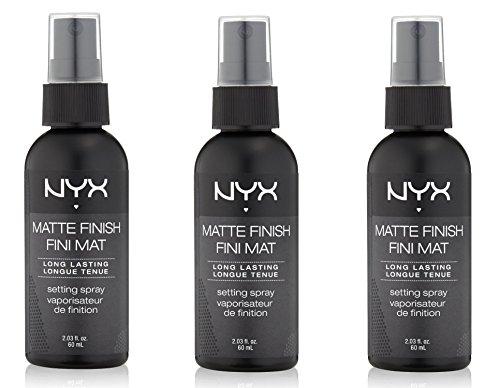 NYX Cosmetics Make Up Setting Spray, Matte Finish/Long Lasting, mhdtt 2.03 Ounce - 3 Bottles