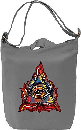 Illuminati Borsa Giornaliera Canvas Canvas Day Bag| 100% Premium Cotton Canvas| DTG Printing|