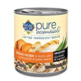 Nature's Recipe Pure Essentials Grain Free Chicken in Broth Wet Dog Food, 10 oz., Case of 24