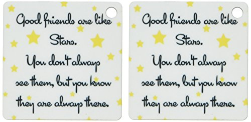 3dRose Good Friends are Like Stars Key Chains, Set of 2 (kc_193474_1)