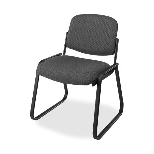 Wholesale CASE of 2 - Office Star Deluxe Armless Sled-Base Chairs-Deluxe Sled Base Chair, Armless, 23