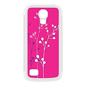 Flowerbuds Pink White Silicon Rubber Case for Galaxy S4 Mini by Gadget Glamour + FREE Crystal Clear Screen Protector