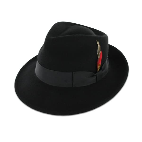 a282fe5120e HomeApparelHatsBelfry Gangster 100% Wool Stain Resistant Crushable Dress  Fedora in Black Grey Navy Brown Pecan. Sale! 🔍. On Sale