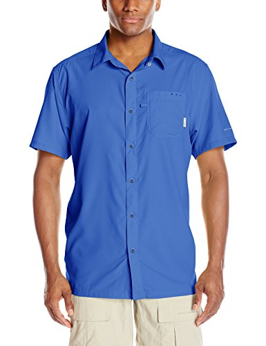 Camp Panel Shirt (Columbia Sportswear Men's Slack Tide Camp Shirt, Vivid Blue, Large)
