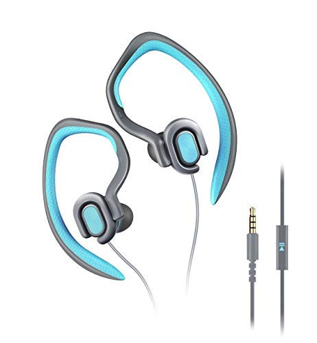 Running Headphones Over Ear Sport Earphones with MIc HD Stereo Sweatproof Earbuds with Bass for Gym Sports Workout Headsets(blue)