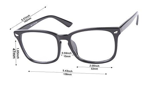 69c8a9e15c6a Agstum Wayfarer Plain Glasses Frame Eyeglasses Clear Lens - Buy ...