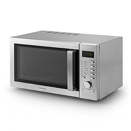 Klarstein Steelwave Microondas con grill (23 litros, 800W de ...