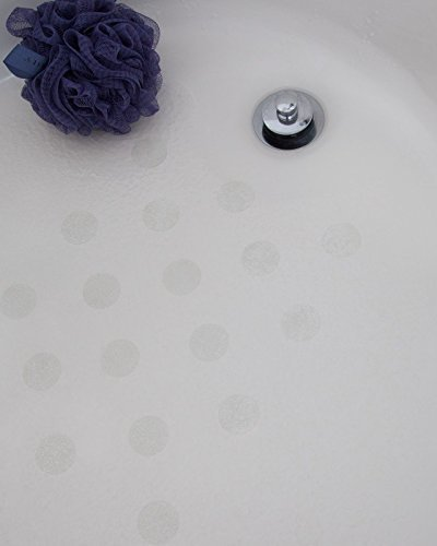 Bath Tub Anti-slip Discs - Non Skid Adhesive Shower Stickers Appliques Treads (Clear) by Non-Slip Bathtub Mats by Non-Slip Bathtub Mats