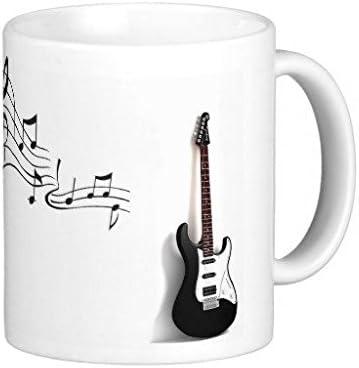 Guitarra y notas musicales Taza de café 11 oz: Amazon.es: Hogar