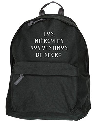 HippoWarehouse Los Miércoles nos Vestimos de Negro kit mochila Dimensiones: 31 x 42 x 21 cm Capacidad: 18 litros Negro