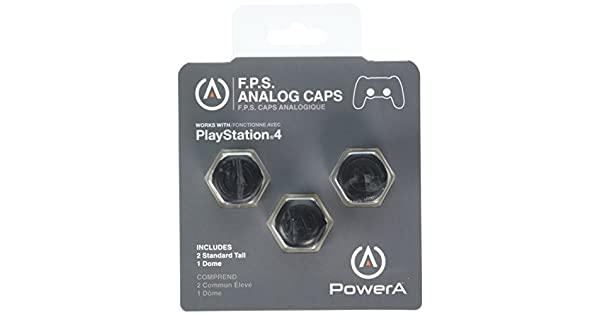 18bc3c10b6ba8 Amazon.com  PowerA FPS ANALOG CAPS for PS4  playstation 4  Video Games