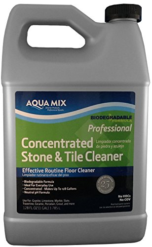 Aqua Mix Concentrated Stone and Tile Effective Routine Floor Cleaner 1 Gallon (Porcelain Slate Tile Quarry)