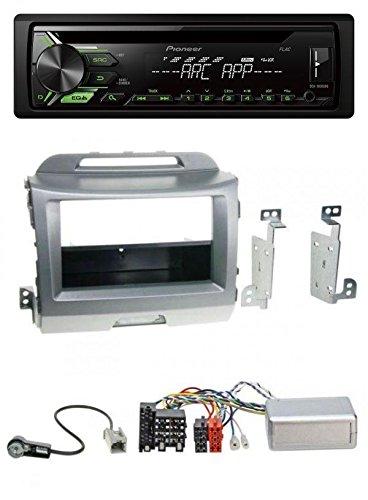 Pioneer 1900ubg USB 1DIN CD MP3 AUX Radio de coche para Kia Sportage 3 (a partir de 10) Plata: Amazon.es: Electrónica