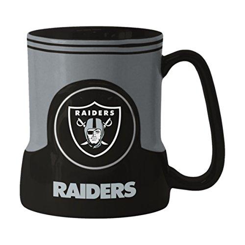 NFL Oakland Raiders Sculpted Game Time Mug, 18-ounce, Black