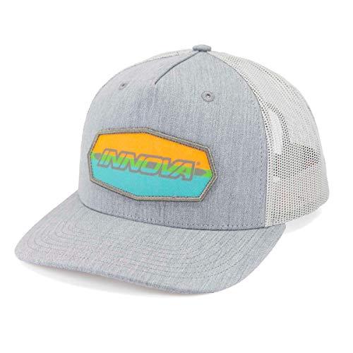 Innova Disc Golf Striped Bar Logo Snapback Mesh Disc Golf Hat - Heather Gray