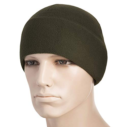 M-Tac Watch Cap Fleece 260 Slimtex Mens Winter Hat Military Tactical Skull Cap Beanie (Olive, X-Large)