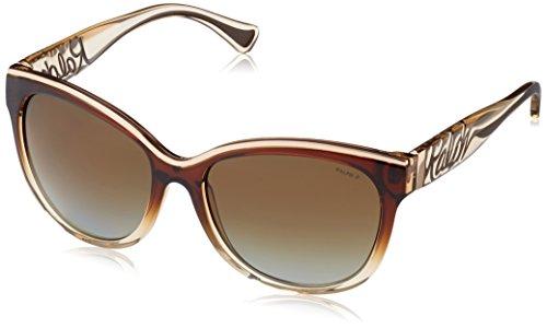 Ralph Lauren Brown Sunglasses (Ralph Lauren womens 0RA5178 792/T556 Polarized Cat-Eye Sunglasses,Brown & Tan,56)