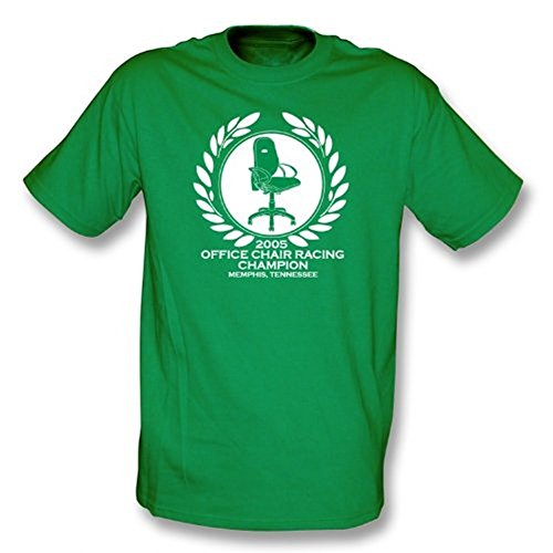 TshirtGrill Büro-Stuhl-laufender Meister-T-Shirt, Farbe- Kelly-Grün