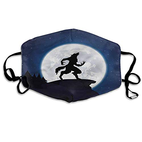 Wolf Fashion Mouth Mask Halloween Theme Design for Cycling Camping Travel W4