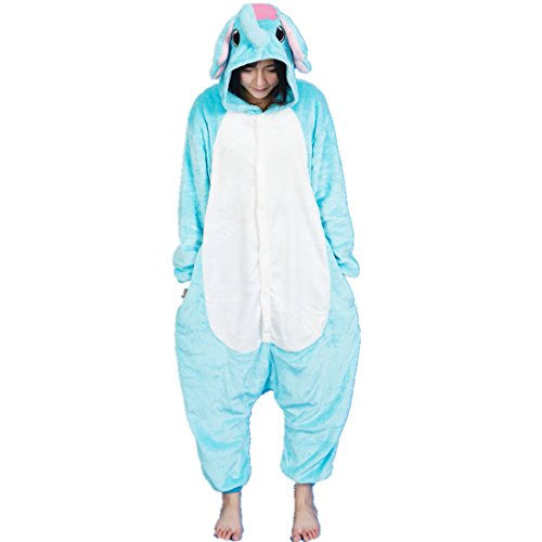 Character Costumes Australia (MizHome Warm And Cozy Flannel Character Kigurumi One-Piece Pajamas Elephant XL)