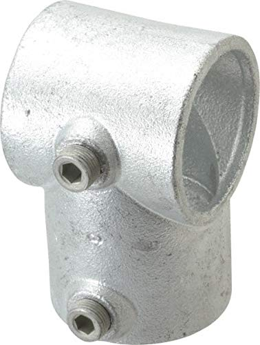 Kee - 2 Inch Pipe, Single Socket Tee, Malleable Iron Pipe Rail Fitting