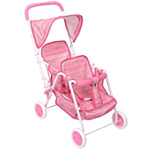 Amazon.com: You & Me Twin Doll Stroller - Pink: Toys & Games