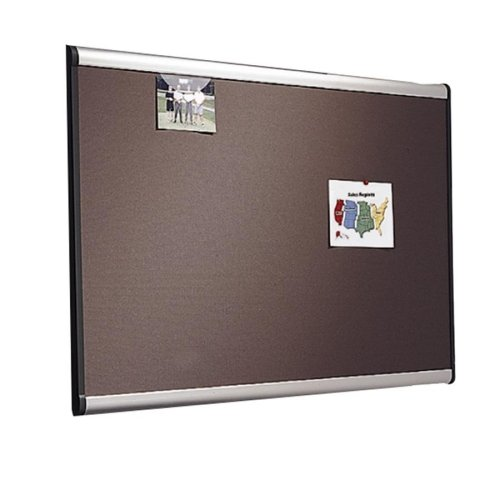 Tight Weave Fabric Board - Quartet Gray Diamond Mesh Bulletin Boards-Tight Weave Fabric Board, 6'x4', Aluminum Frame
