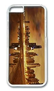 Adorable Chicago Skyline Hard Protective Shell Cell PhoneDiy For Mousepad 9*7.5Inch PC Transparent