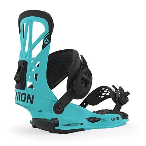 Union Flite Pro Snowboard Bindings Mens Sz L (10.5+) Hyperblue