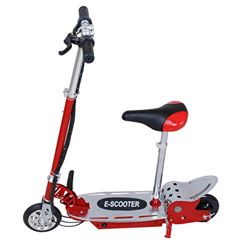 Overwhelming E120 Electric Scooter With Seat Motorized bike for kid Red