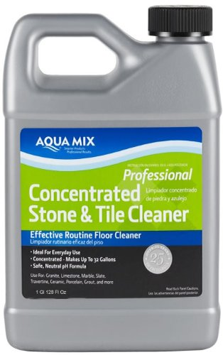 Slate Tiles Porcelain (Aqua Mix Concentrated Stone and Tile Effective Routine Floor Cleaner 1 Gallon)