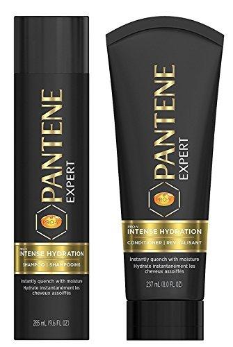 - Pantene Expert Haircare - Intense Hydration - Shampoo (9.6 FL OZ) & Conditioner (8 FL OZ) Set - One Set