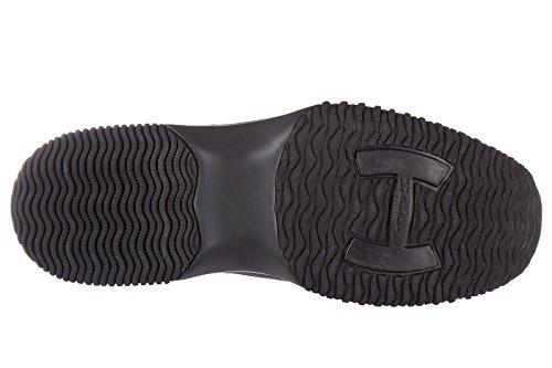 Hogan chaussures baskets sneakers homme en daim interactive h flock etichetta gr
