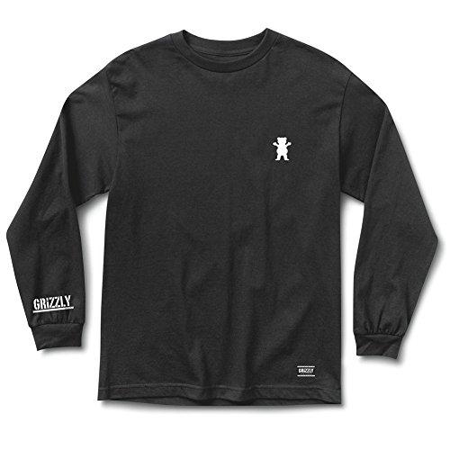 (Grizzly Griptape Men's Bear Brawl LS T Shirt Black)