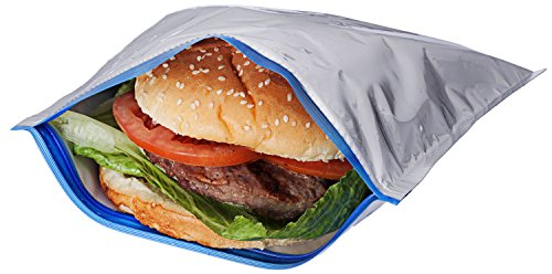 Insulated Sandwich Bags, Pack of 5 / Will Keep Sandwiches From Becoming Spoiled, No Matter The Weather!!!