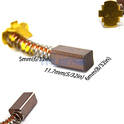 Eztronics Corp® Carbon Brushes For HITACHI 999-054 12V 14V 18V battery Drill WH18DL DV18DL (999054(6mmx5mm x11.7mm))