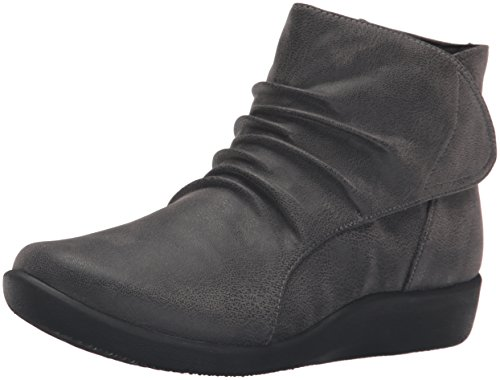 Sillian Grey Chell Boot Women's Nubuck Synthetic Clarks 5xqBF61wy