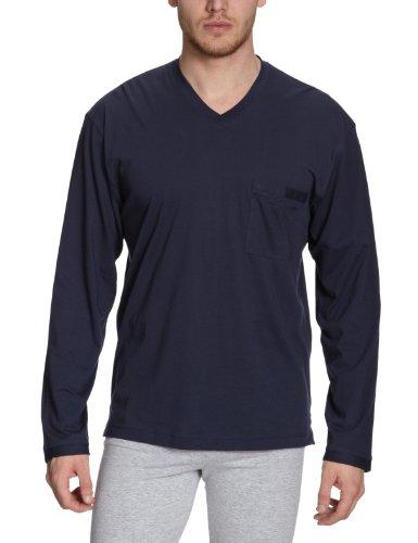 Huber Herren Schlafshirt 7344 / Mix & Match Shirt lang Arm, Gr. 6, Blau (MARINE 0390)