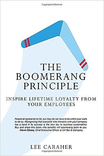 Amazon the boomerang principle inspire lifetime loyalty from amazon the boomerang principle inspire lifetime loyalty from your employees 9781629561684 lee caraher books fandeluxe Gallery