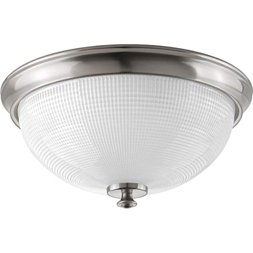 Progress Lighting P3667-09 Traditional/Casual 3-60W Med Flush Mount, Brushed Nickel