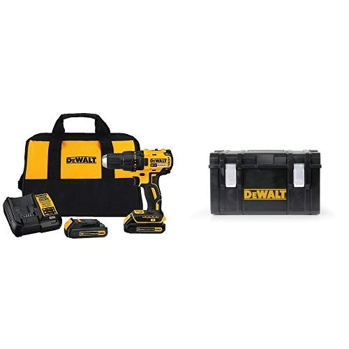 DEWALT DCD777C2 20V Max Lithium-Ion Brushless Compact Drill Driver with DWST08203H Tough System Case, - Driver Tough Drill