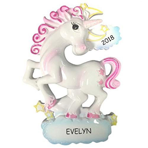 DIBSIES Personalization Station Personalized Whimsical Unicorn Kids Christmas ()