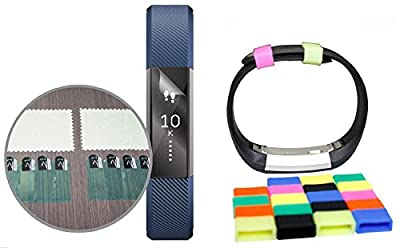 MDW 8 Screen Protector + 21 Silicon Fastener for Fitbit Alta - A Must Have Accessory Pack