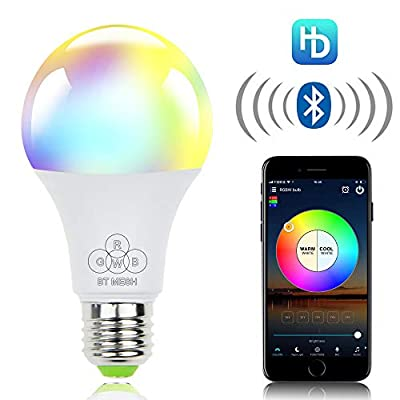 ALITOVE Smart Light Bulb RGB White Color Changing Dimmable LED Bulbs